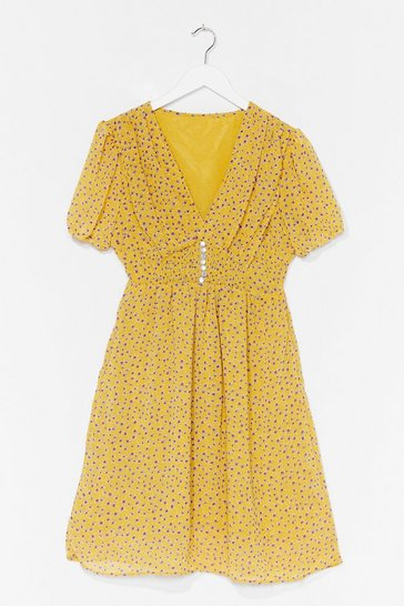 Yellow Growing With It Floral Mini Dress