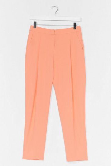 Apricot Suits You High-Waisted Tailored Pants