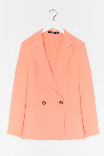 Apricot Suits You Tailored Double Breasted Blazer