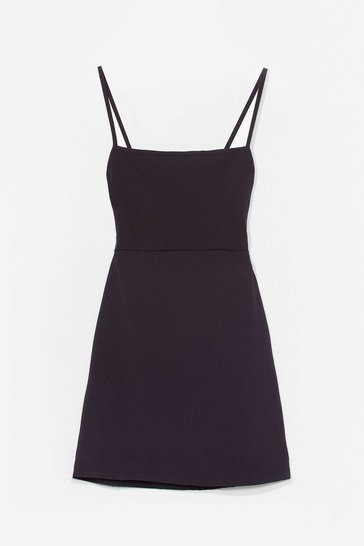 Black Cami for Love Square Neck Mini Dress