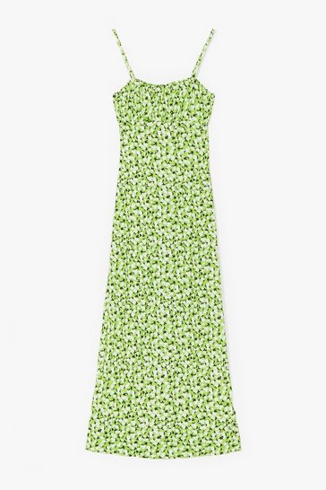Apple green Cami for Love Floral Maxi Dress