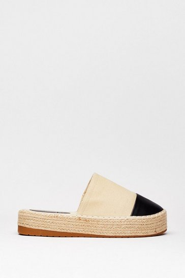 Beige Moscow Mule or Two-Tone Flatform Mules