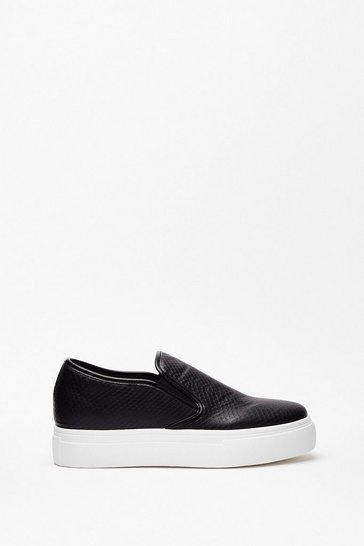 Black Way Up High Platform Slip-On Sneakers