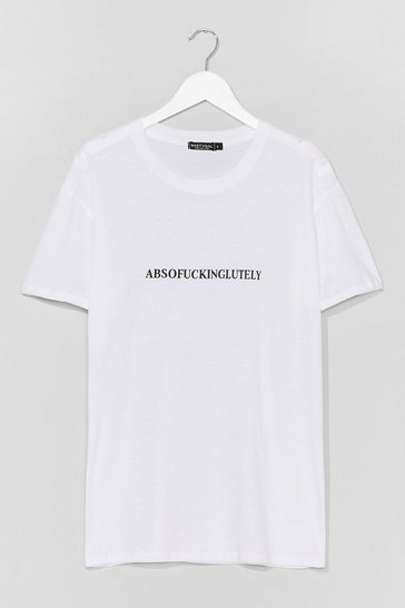 White Absofuckinglutely Graphic Tee
