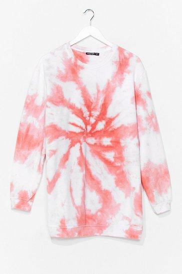 Peach My Ride or Tie Dye Sweatshirt Dress
