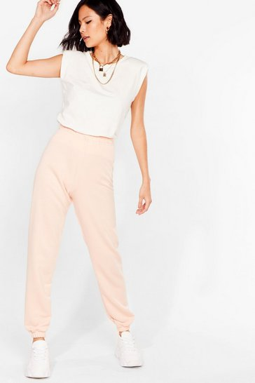 Dusky pink Jog the Limelight Stretch Joggers