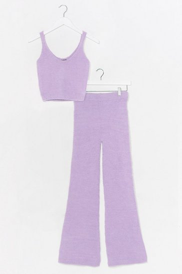 Lilac Knit Feels Right Top and Pants Lounge Set