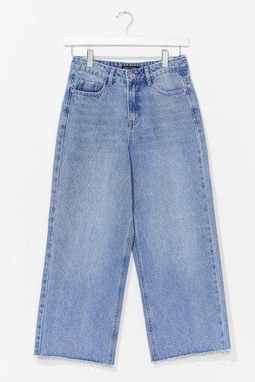 Light blue Wide Leg Cropped Jeans