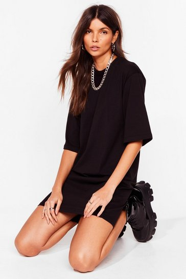 Sand Tell Tee About It Relaxed Mini Dress