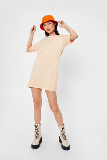 Sand Relaxed Mini T-Shirt Dress