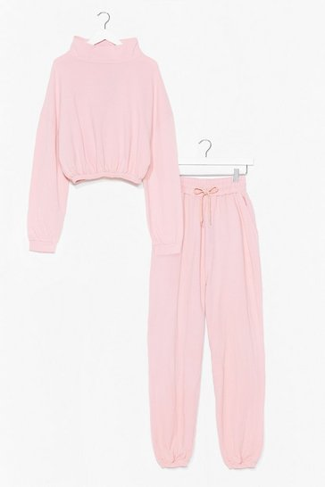 Pink You and I Hoodie and Jogger Set