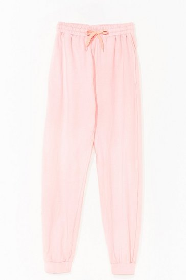 Pink Keep a Wash Out High-Waisted Joggers