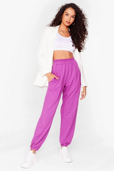 Purple Run It High-Waisted Relaxed Joggers