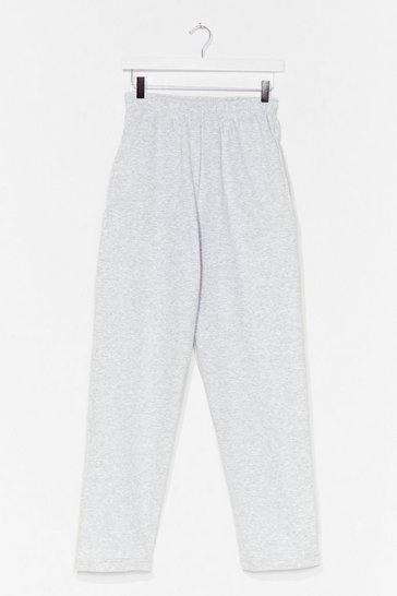Grey marl Straight Outta Here High-Waisted Joggers