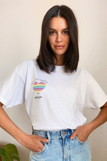 White All in This Together Charity Graphic Tee