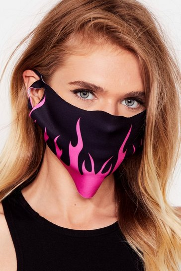 Pink The Flame Game Fashion Face Mask