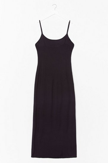 Black To the Maxi Plus Slip Dress