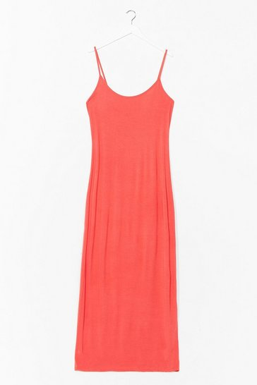 Coral To the Maxi Plus Slip Dress