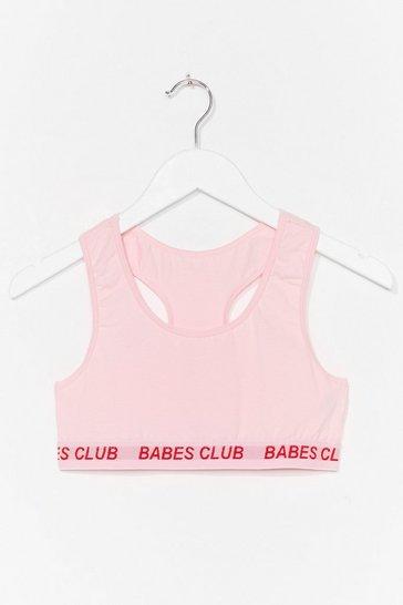 Pink Badass Babes Club Racerback Bralette