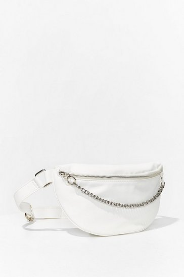 White WANT Chain-ge Direction Fanny Pack