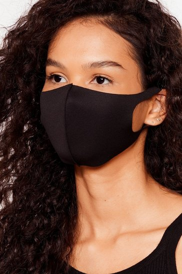 Black Neoprene Non Surgical Face Mask