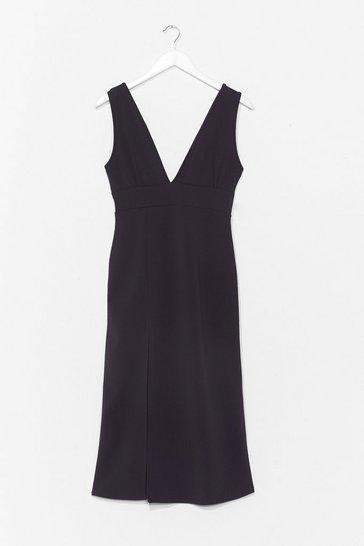 Black Deep On Dancing Mdi Dress