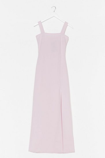 Lilac Square with Me Maxi Dress