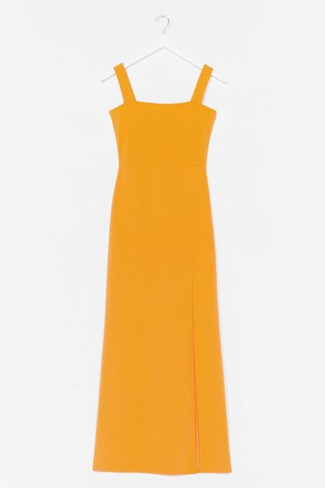 Orange Square with Me Maxi Dress