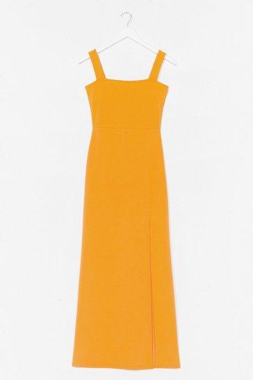 Orange Square with Me Maxi Dress