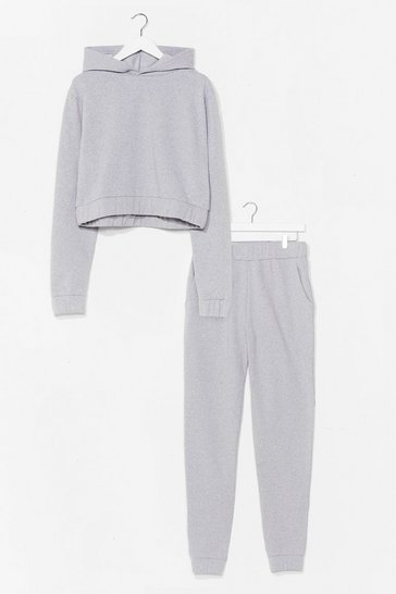 Grey marl Over Your Head Hoodie and Joggers Set