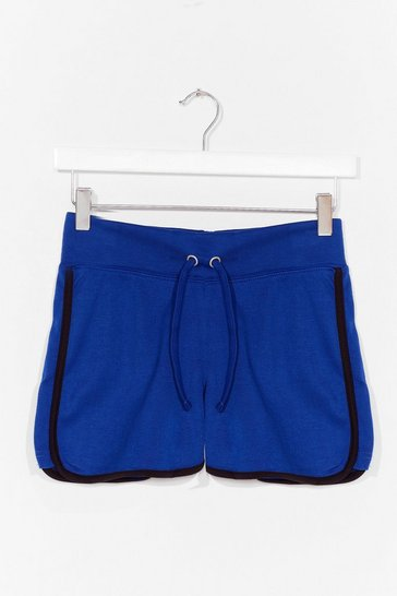 Blue Sidewinder Striped Runner Shorts