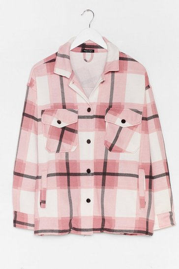 Pink Meet You At the Checkout Oversized Jacket