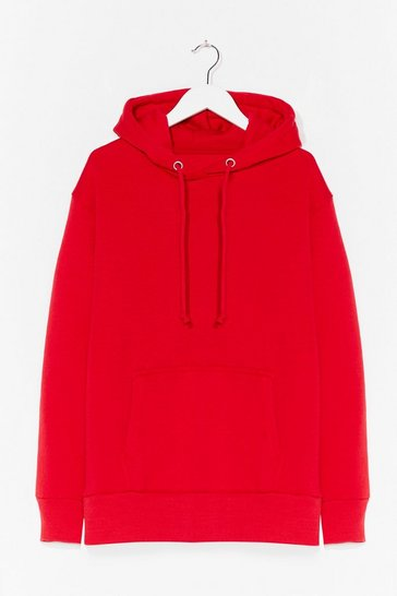 Red You Better Pullover Plus Oversized Hoodie