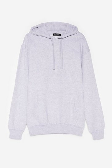 Grey Plus Size Pocket Front Oversized Hoodie