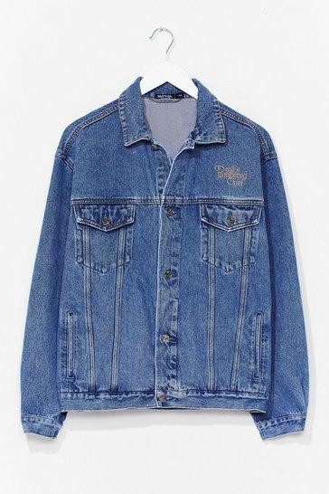 Blue Vintage Oversized Denim Jacket