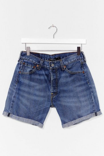 Blue Nasty Gal Vintage Turn It Up Denim Shorts