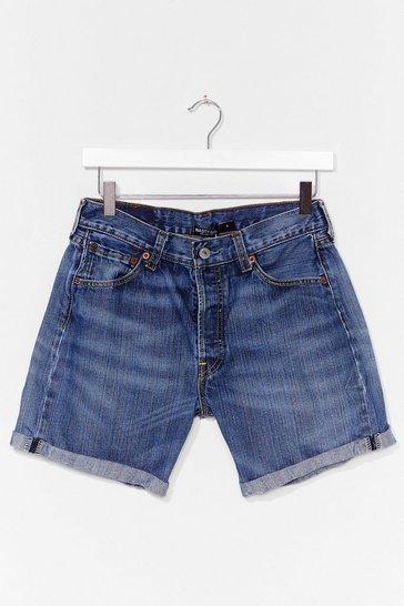 Blue Nasty Gal Vintage Turn It Up Denim Shorts