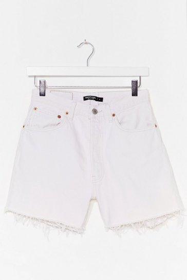 Ecru Nasty Gal Vintage Made the Cut Denim Shorts