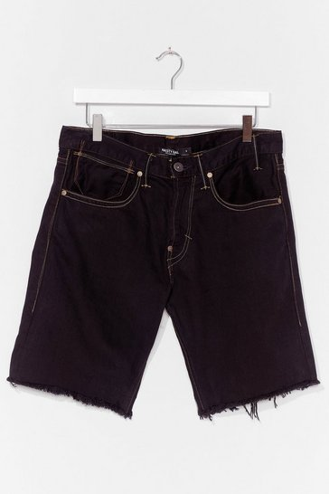 Black Nasty Gal Vintage Made the Cut Denim Shorts