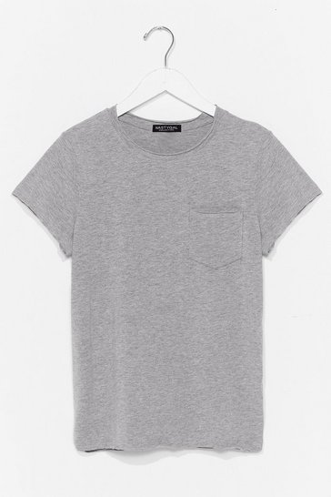 Grey Pocket It Up Pocket It in Relaxed Tee