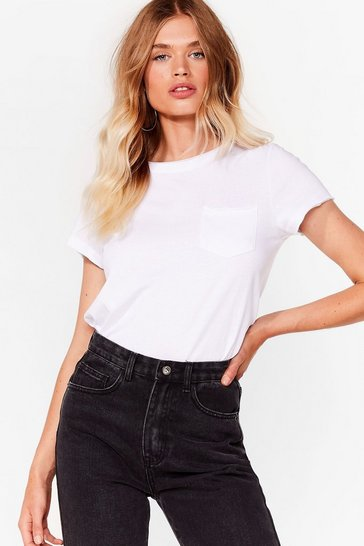 White Pocket It Up Pocket It in Relaxed Tee