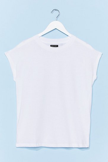 White Stick to the Basics Relaxed Tee
