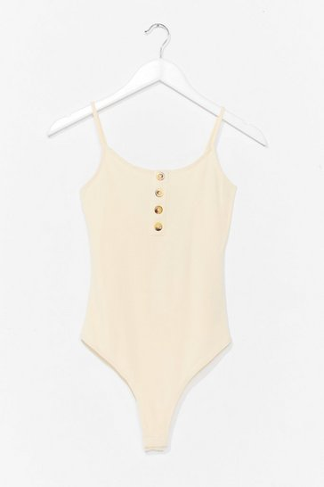 Cream Two Scoops Button Bodysuit
