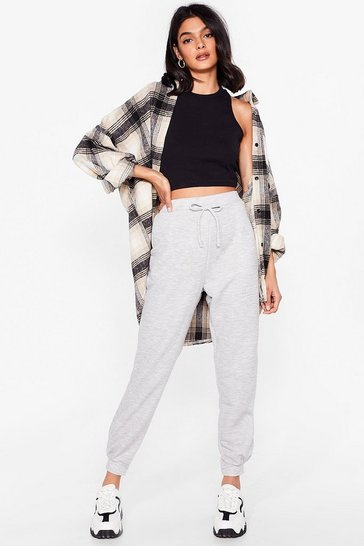 Grey Hey There Hot Cuff High-Waisted Joggers