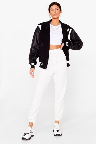 Ivory Hey There Hot Cuff High-Waisted Joggers