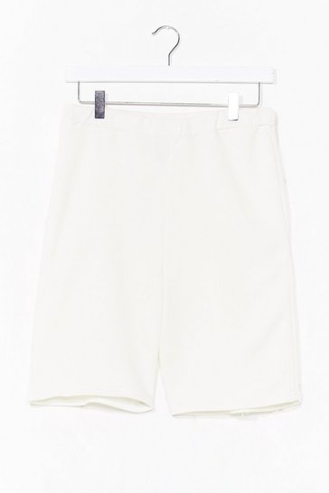 Ecru Welcome to Jersey Longline Biker Shorts