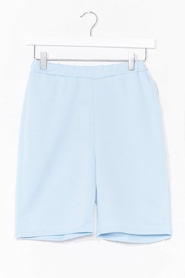 Pastel blue Welcome to Jersey Longline Biker Shorts