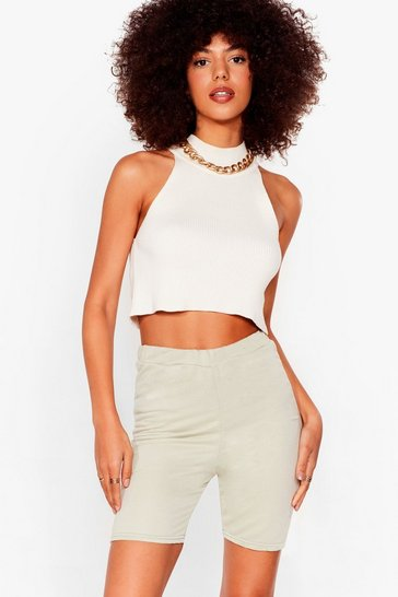 Sage Welcome to Jersey Longline Biker Shorts
