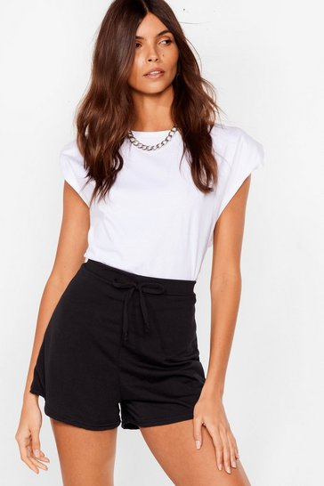 Black Coffee Run High-Waisted Relaxed Shorts