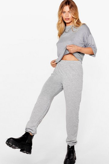 Grey marl Bring It All Together Tee and Jogger Set